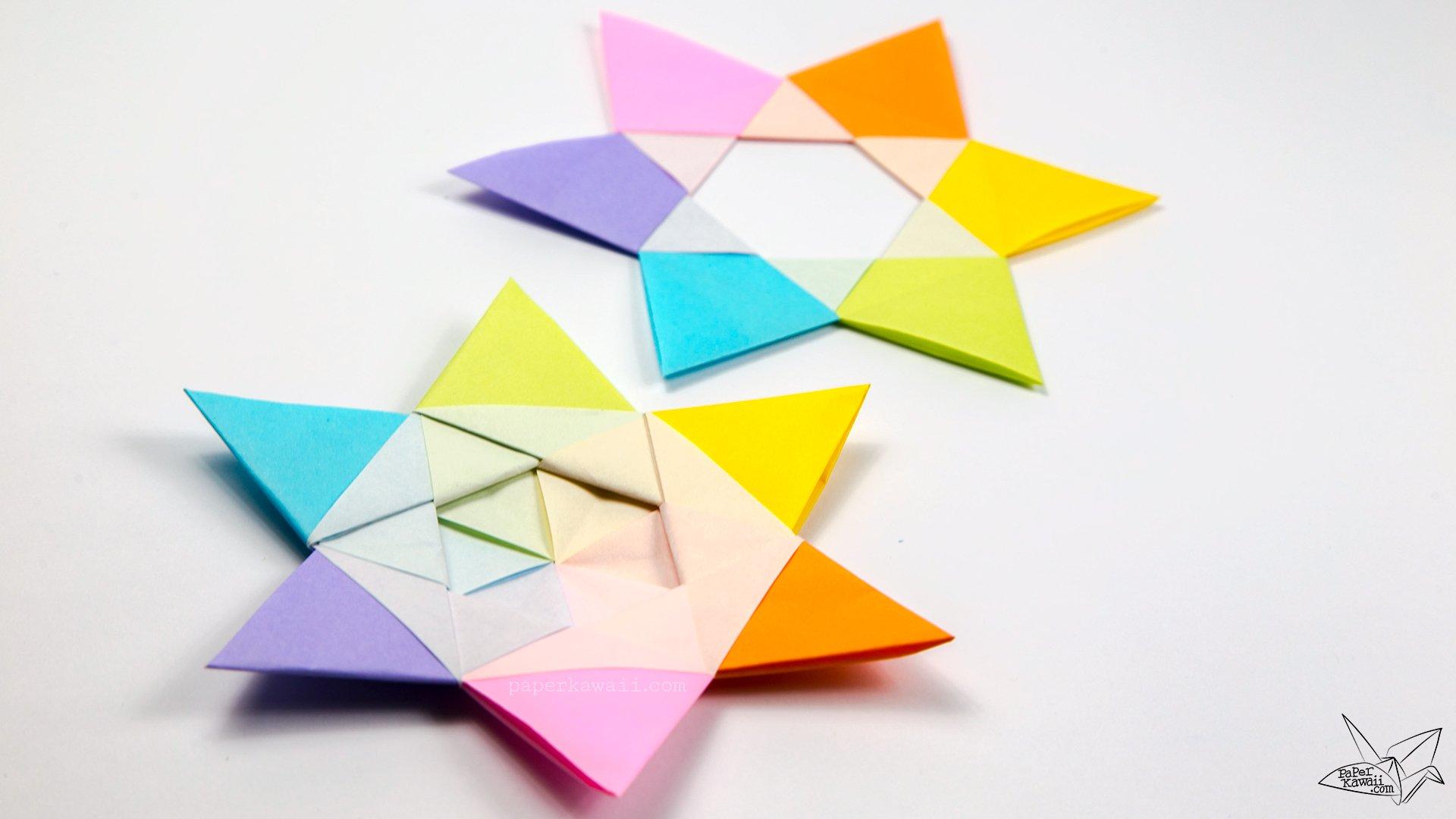 cool modular origami diagram 2004 saturn ion 3 wiring dual hexagram stars tutorial paper kawaii