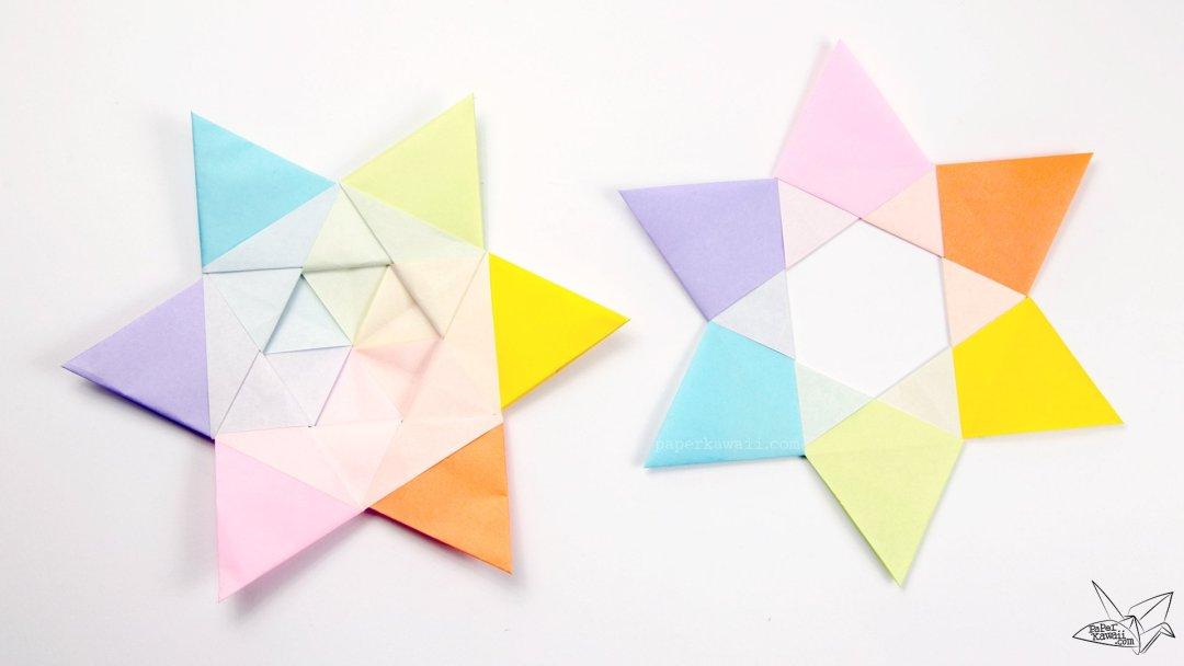 Origami Dual Hexagram Stars Tutorial via @paper_kawaii