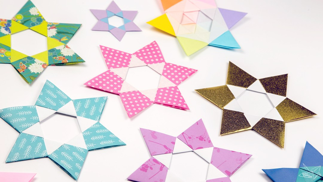 Origami Dual Hexagram Stars Tutorial