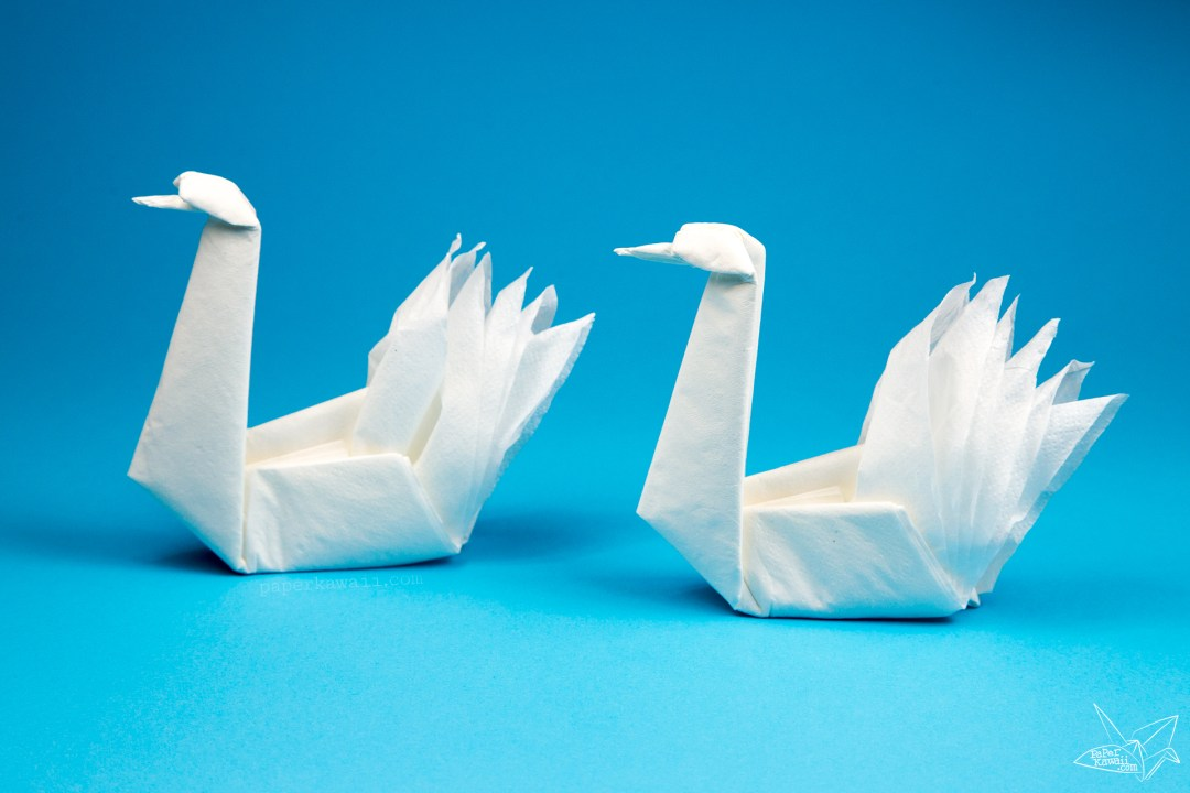 Easy Origami Napkin Swan Tutorial via @paper_kawaii
