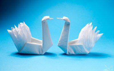 Easy Origami Napkin Swan Tutorial