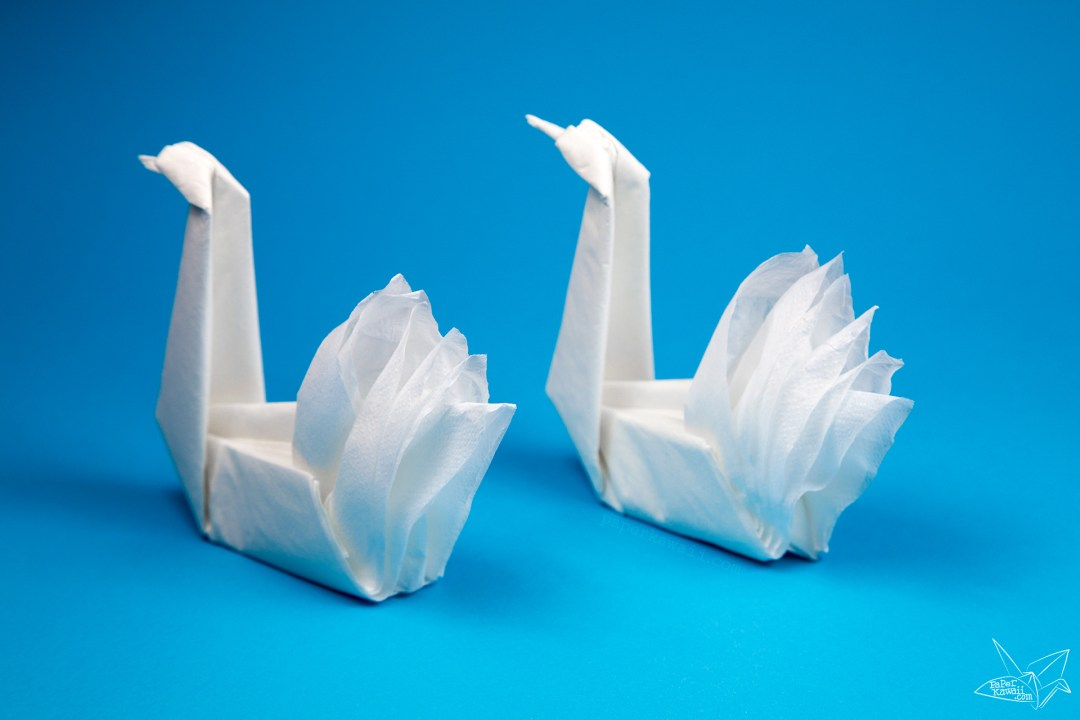 Easy Origami Napkin Swan Tutorial Paper Kawaii