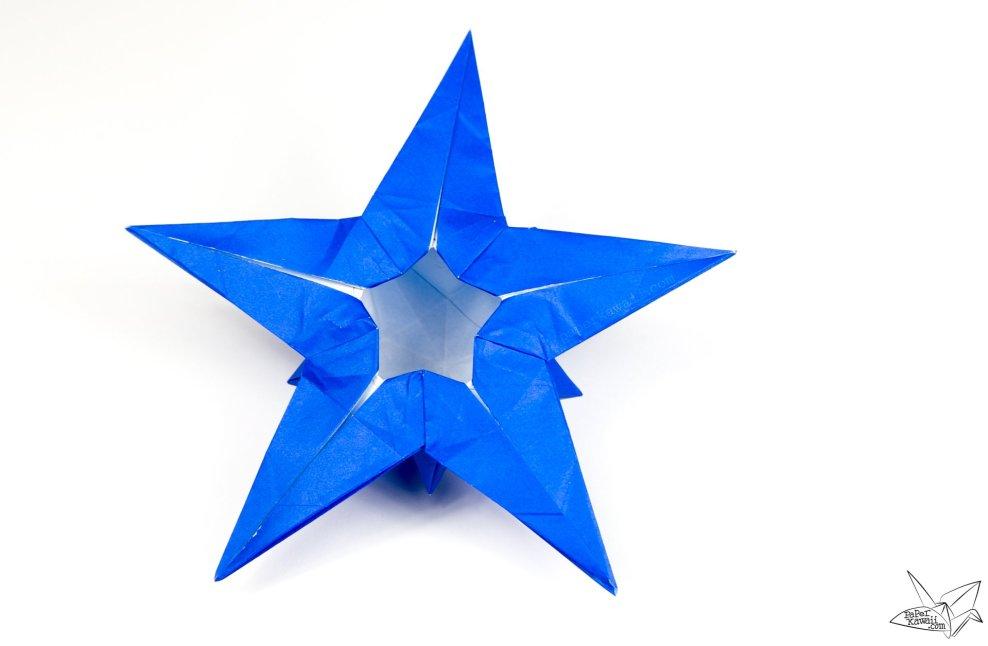 Origami Star Puff Tutorial - Philip Chapman-Bell via @paper_kawaii