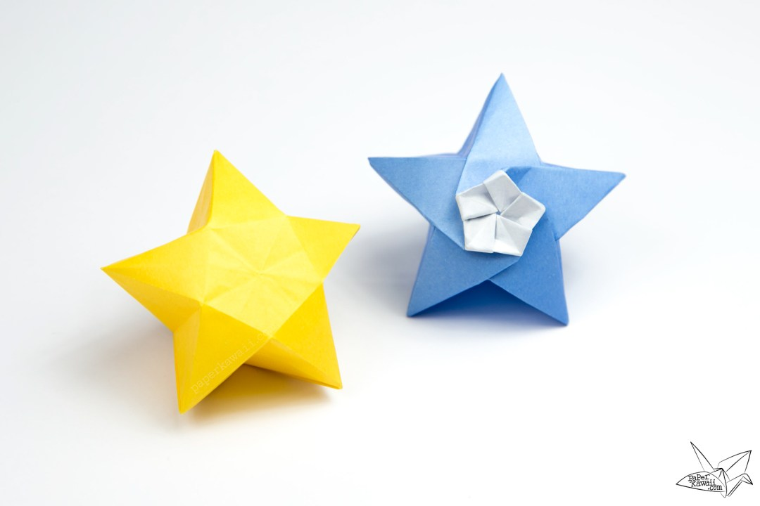 Origami Twinkle Star Tutorial - Puffy Stars - Paper Kawaii - photo#18