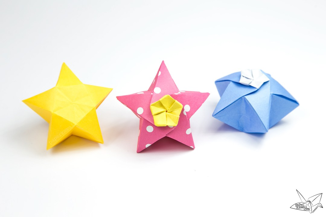 Origami Twinkle Star Tutorial - Puffy Stars - Paper Kawaii - photo#21