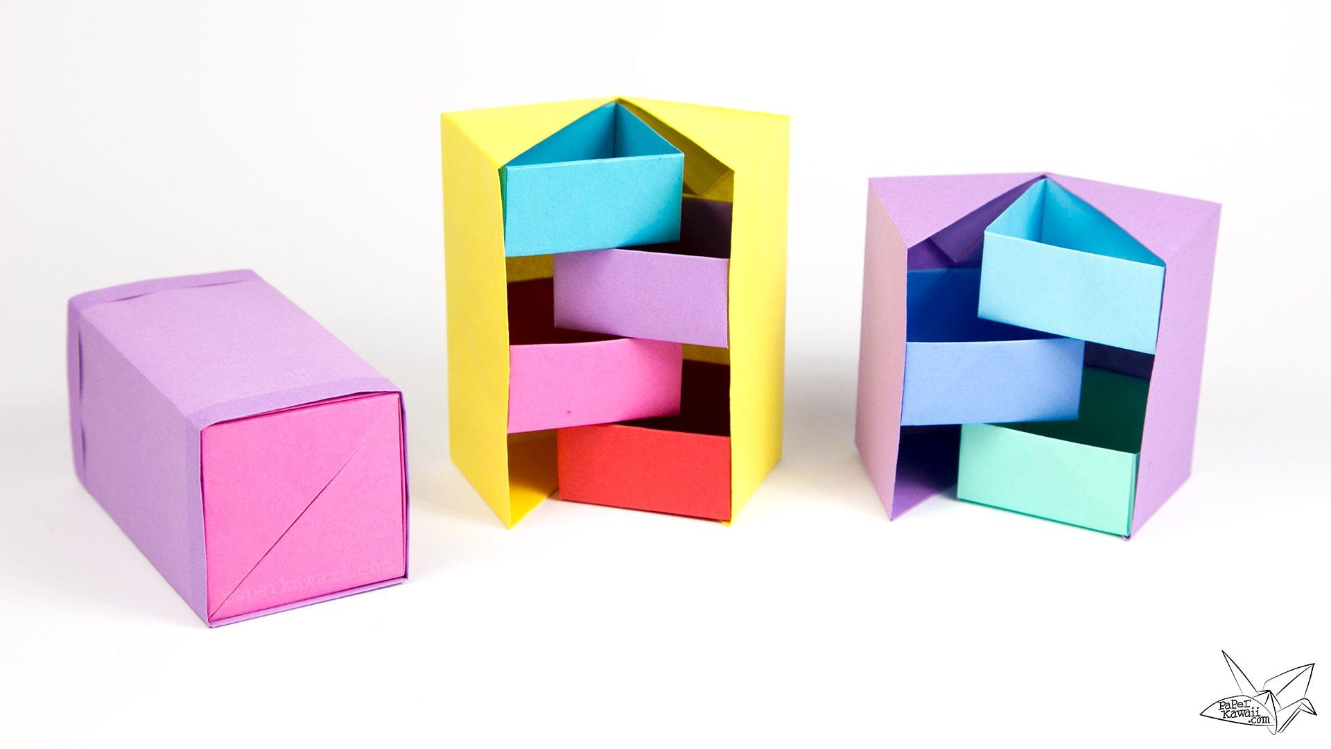 cool modular origami diagram honeywell thermostat wiring rth2300b secret stepper box tutorial paper kawaii