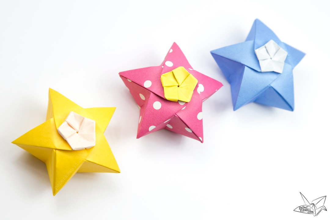 Origami Twinkle Star Tutorial - Puffy Stars - Paper Kawaii - photo#12