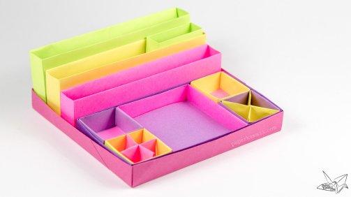 origami-desk-organiser-tutorial-paper-kawaii-06