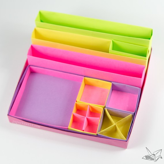 origami-desk-organiser-tutorial-paper-kawaii-08