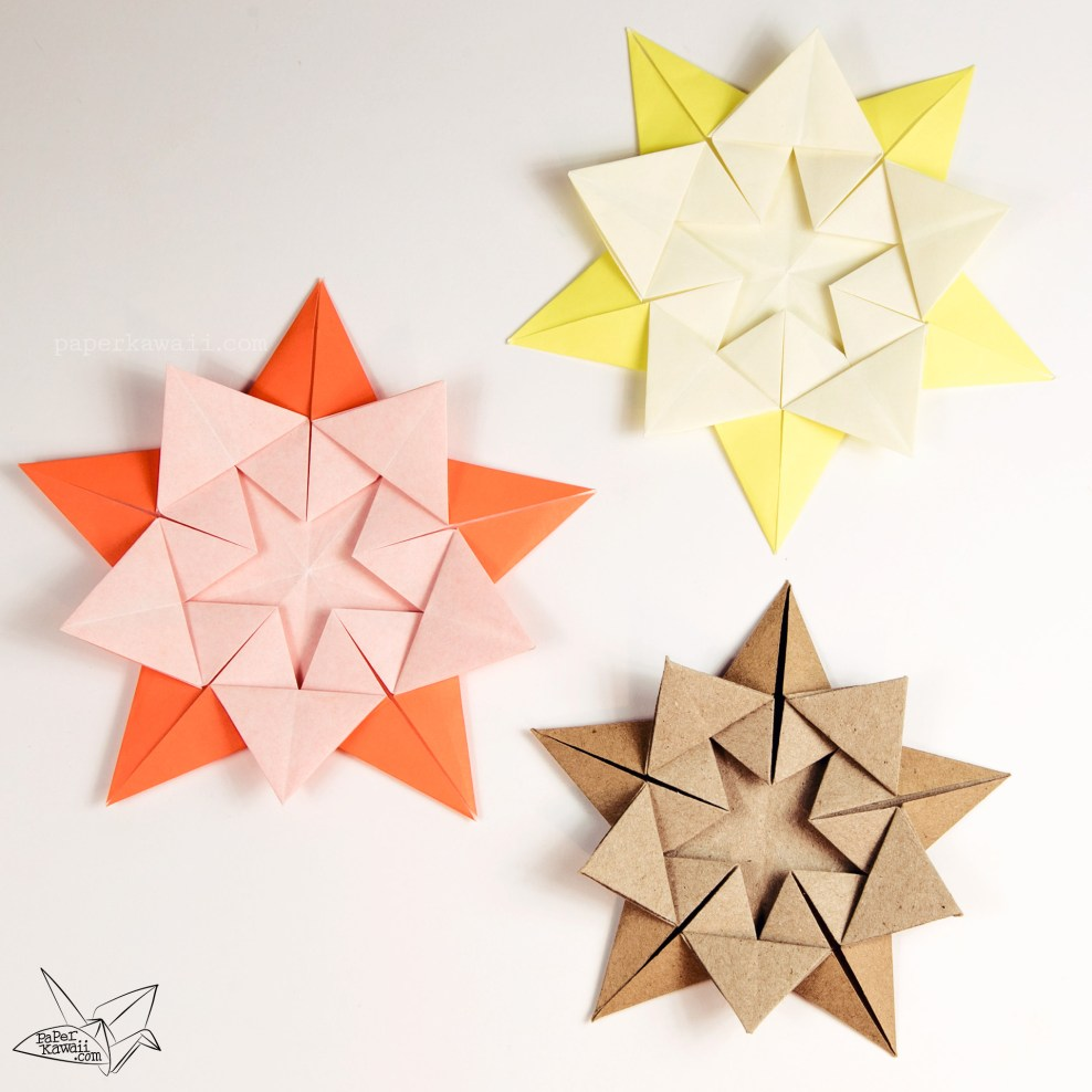 Origami Star Within Tutorial Ali Bahmani Paper Kawaii Science Fiction Diagrams Via