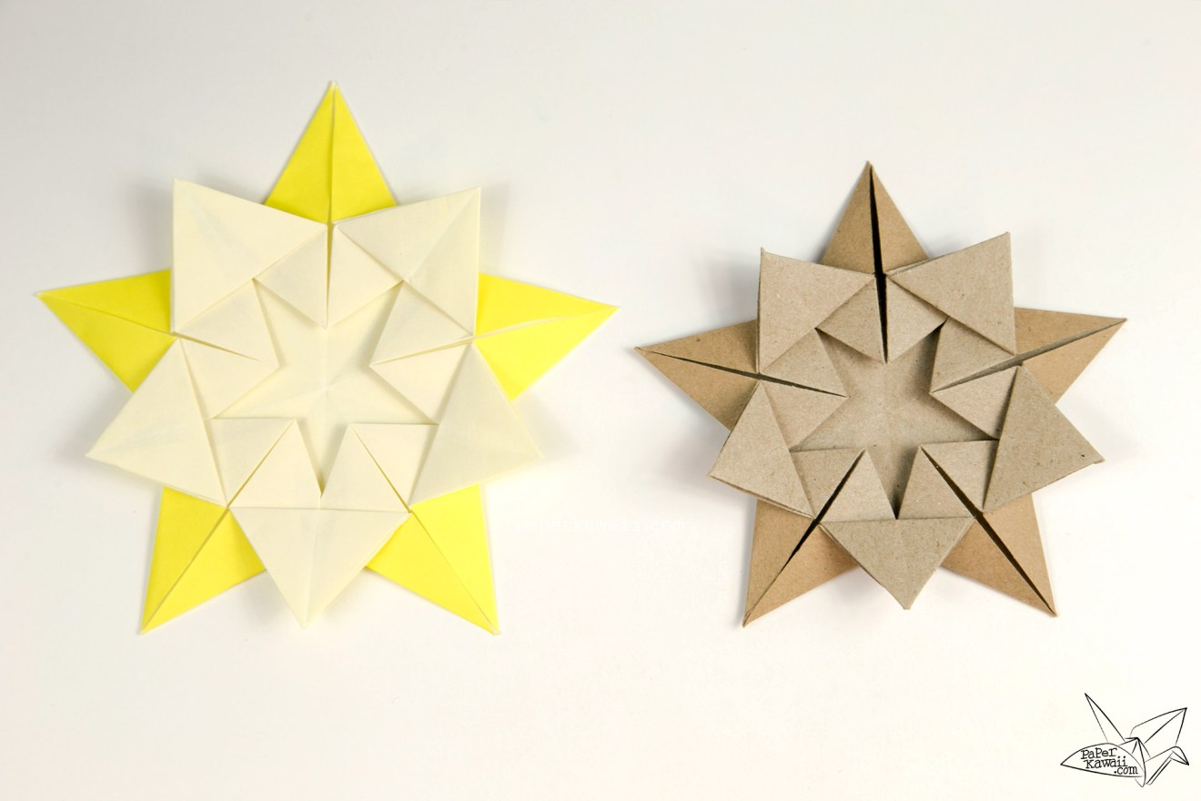 "Origami ""Star Within"" Tutorial - Ali Bahmani via @paper_kawaii"