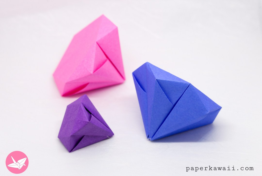 Round Origami Diamond Tutorial via @paper_kawaii