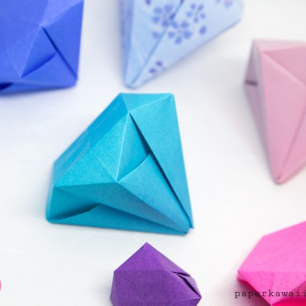 Easy Origami Diamond Tutorial via @paper_kawaii