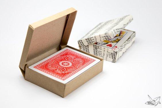 Custom Size Hinged Origami Box – Playing Cards Box