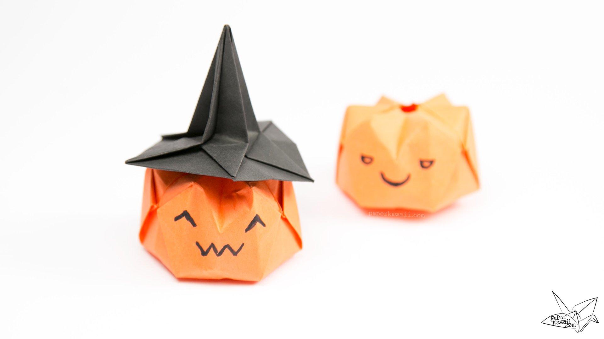 Halloween Pumpkin Origami 3d Diagram Automotive Wiring Tutorials Rh Paperkawaii Com Vase Cat Diagrams