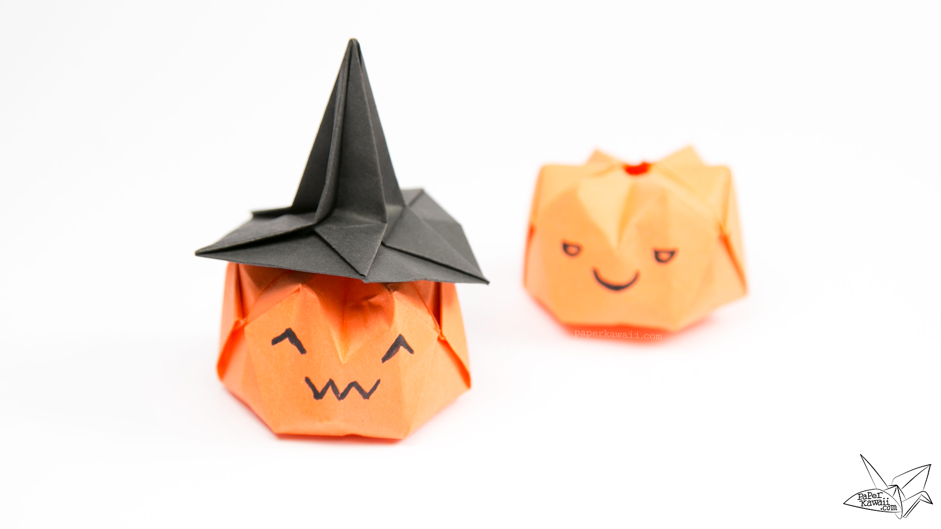 Inflatable Origami Pumpkin Tutorial - Halloween Jack O ... - photo#14