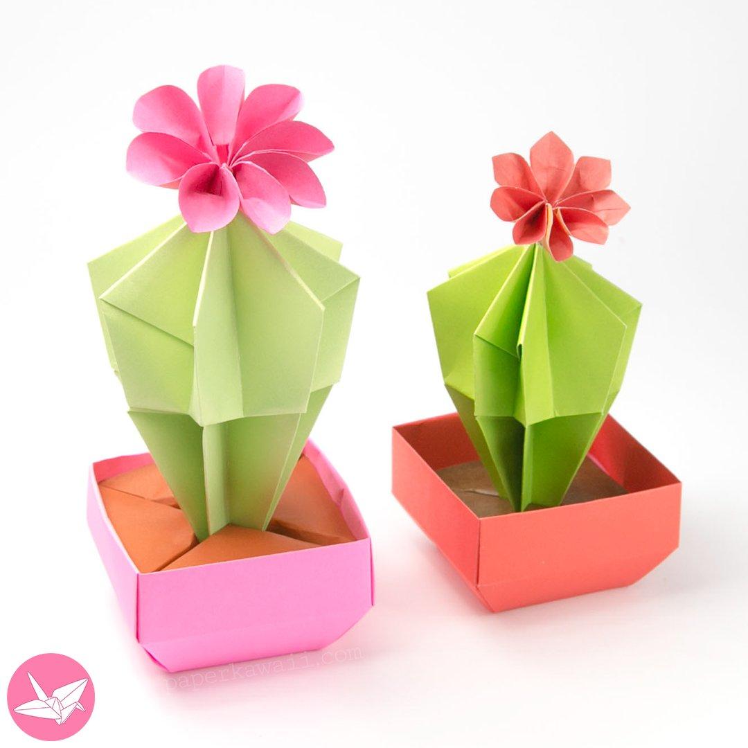 Mini Origami Pot Plant || How to make Paper Pot Plant (Very Cute ... | 1080x1080