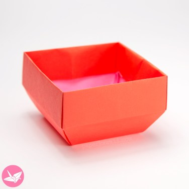 Origami Angled Base Box / Pot Tutorial