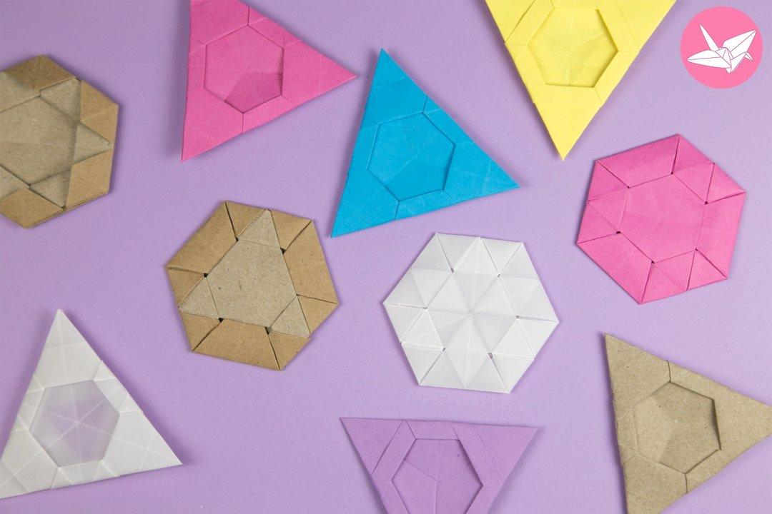 Origami Triangle Hexagon Coaster / Tato Tutorial via @paper_kawaii