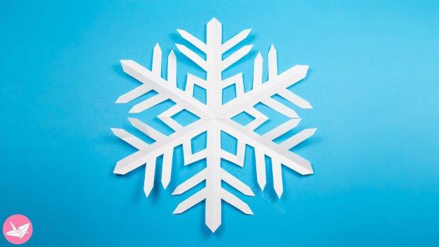 Easy Kirigami Snowflake Tutorial (6 Pointed)