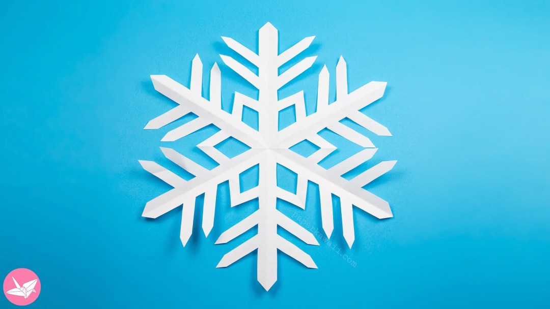 12 Easy 3D Paper Snowflake Patterns | Guide Patterns | 608x1080
