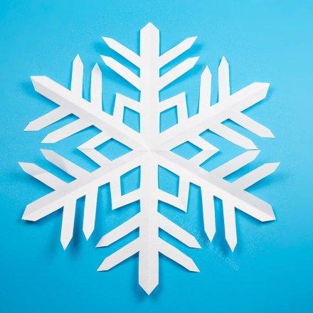 Easy Kirigami 6 Pointed Snowflake Tutorial via @paper_kawaii