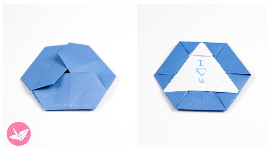 Origami Triangle Hexagon Coaster / Tato Tutorial via @paper_kawaii