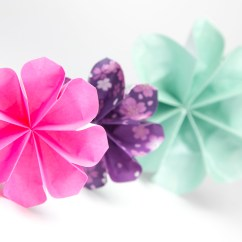 Origami Pokemon Diagram 6 Prong Trailer Plug Wiring Easy 8 Petal Flower Tutorial - Paper Kawaii