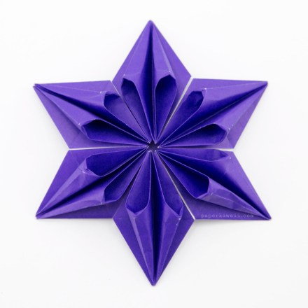 Origami Augustar Star Tutorial - José Meeusen via @paper_kawaii