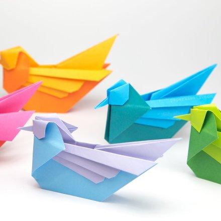 Origami Mandarin Bird Tutorial - Simon Andersen via @paper_kawaii