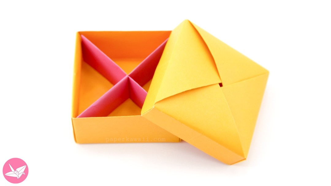 This Useful Origami Box Divider Is Diagonal Like An X Instead Of Squares You Get Triangular Sections Great To Keep Jewellery Gifts Other Items