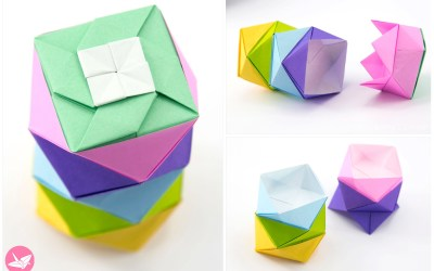 Origami Stacking Boxes Tutorial