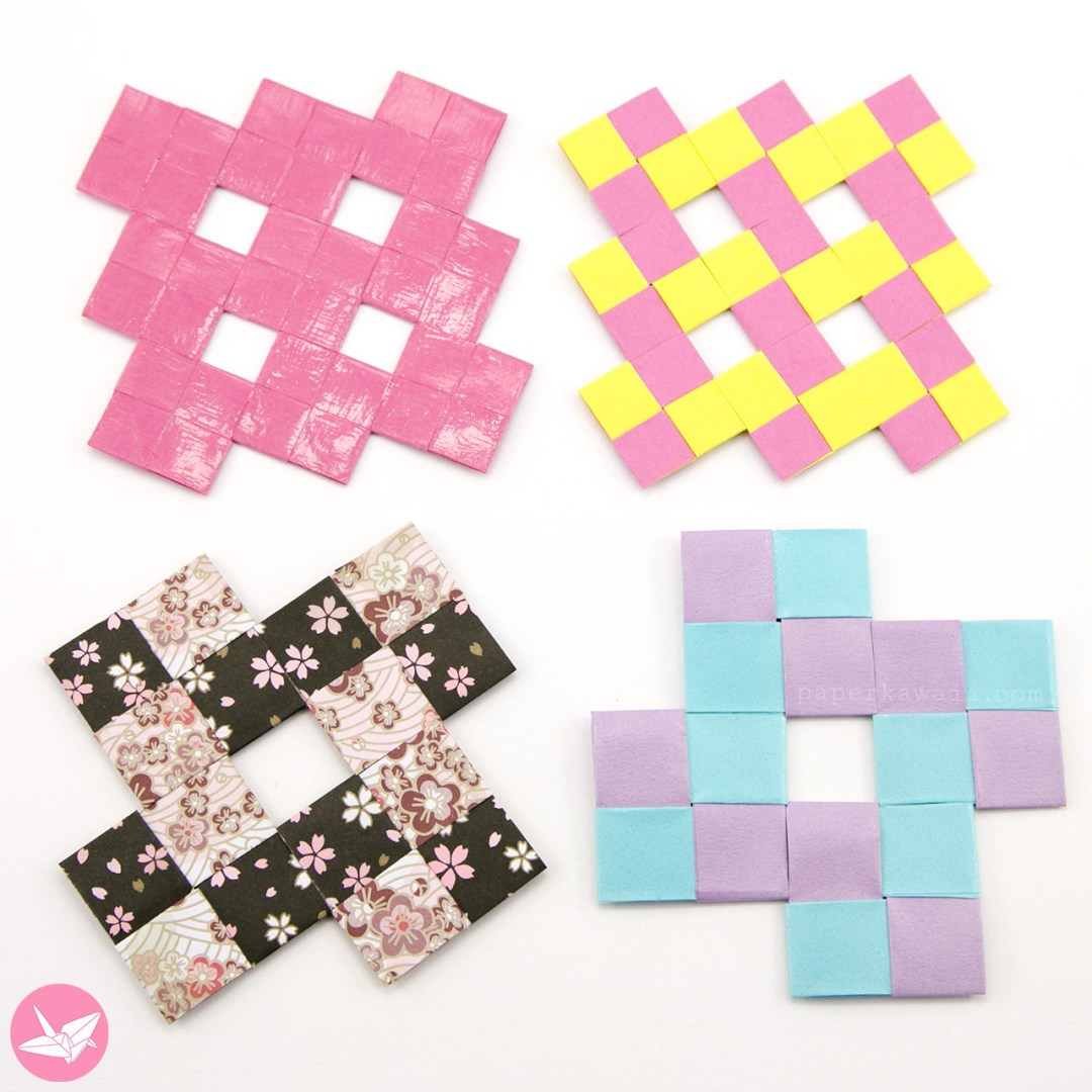 Origami Weaved Mats Tutorial - Paper Placemats via @paper_kawaii