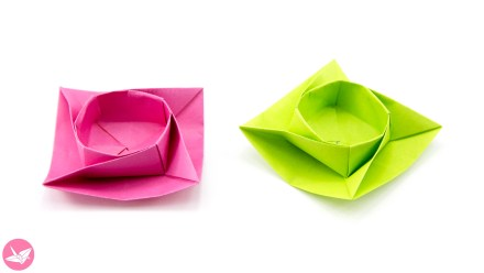 Twisted Round Origami Box / Bowl Tutorial