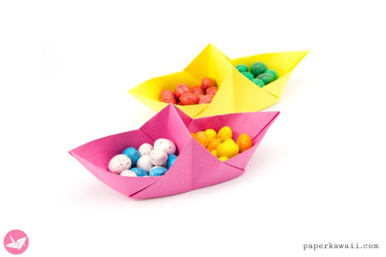 Origami Basket Boat Tutorial – Divided Basket
