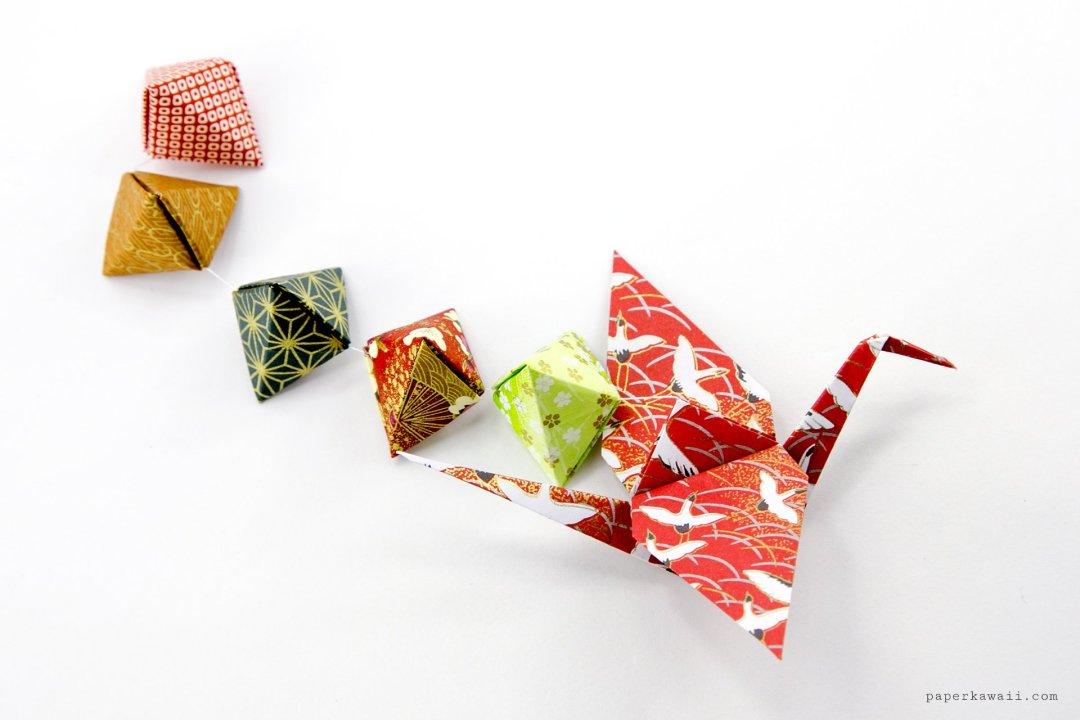Origami Crane Tutorial - Traditional Origami Tsuru via @paper_kawaii