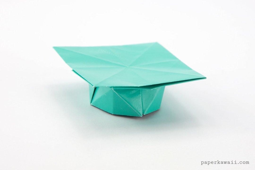 origami graduation hat tutorial paper kawaii