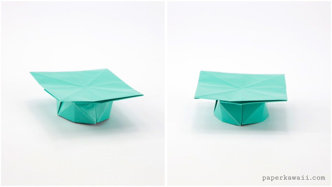 how to make an origami graduation hat