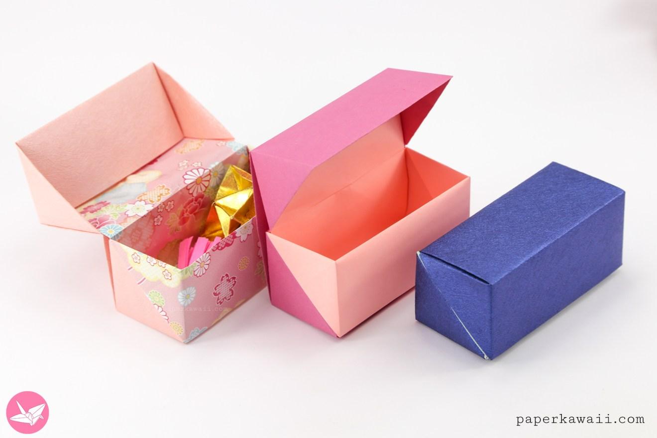 Origami Hinged Box Tutorial - Medium Size via @paper_kawaii