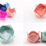 Origami Pinwheel Flower Bowl Tutorial