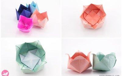 Origami diagrams paper kawaii origami pinwheel flower bowl tutorial mightylinksfo Image collections