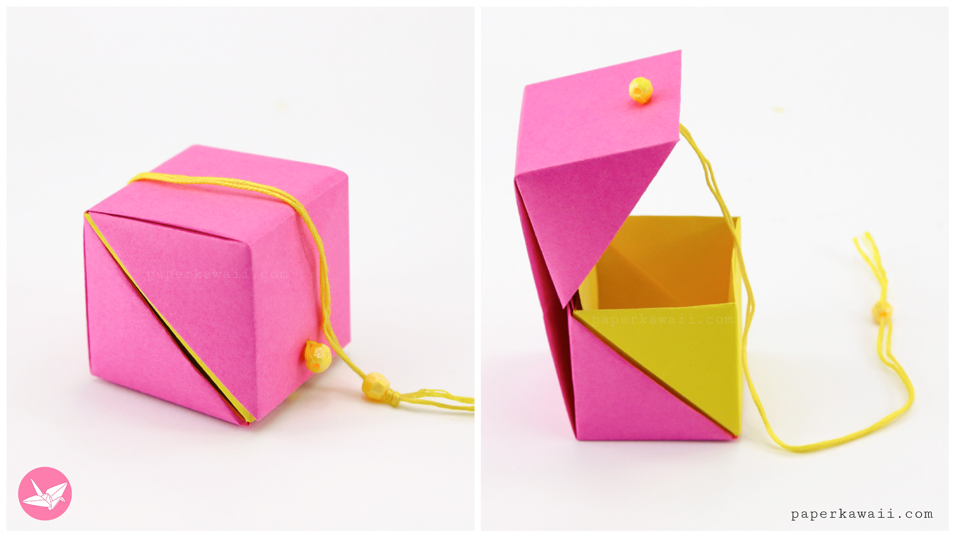 Origami Box with Lid - Page 1 - Paper Kawaii | 1080x1920