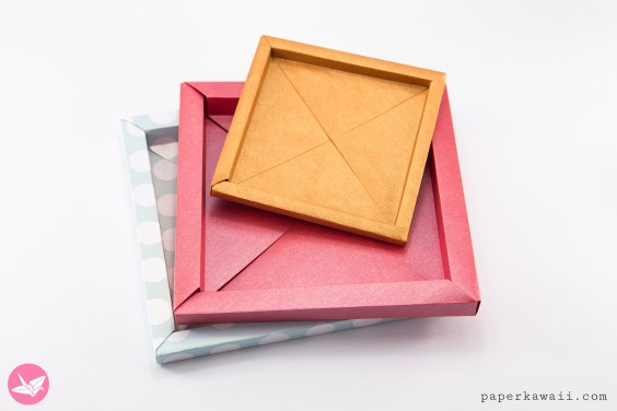 Origami Photo Frame Box Tutorial / Paper Storage Box