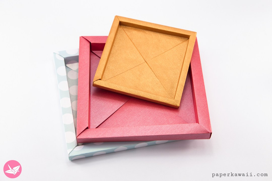 Origami Photo Frame Box Tutorial / Paper Storage Box - Paper Kawaii