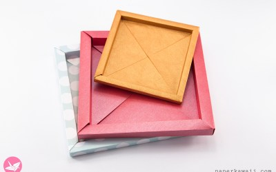 Origami Photo Frame Box Tutorial / Paper Storage Box
