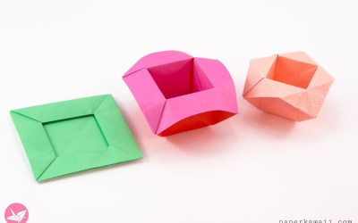 Origami Pop-Up Picture Frame Boxes Tutorial