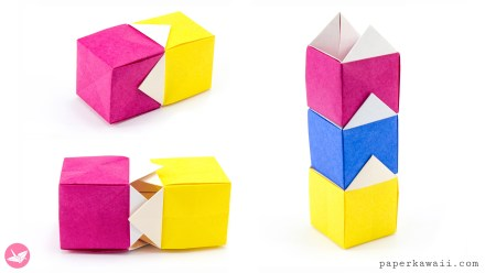 Origami Stackable House Box Tutorial