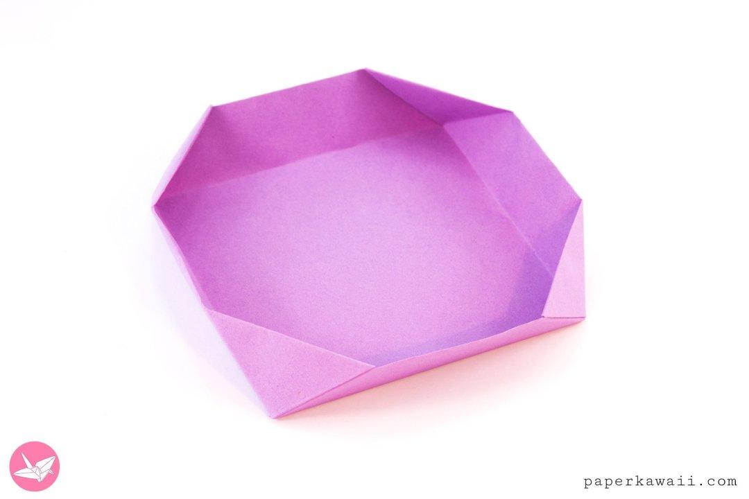 Easy Peasy Shallow Origami Box Tutorial via @paper_kawaii