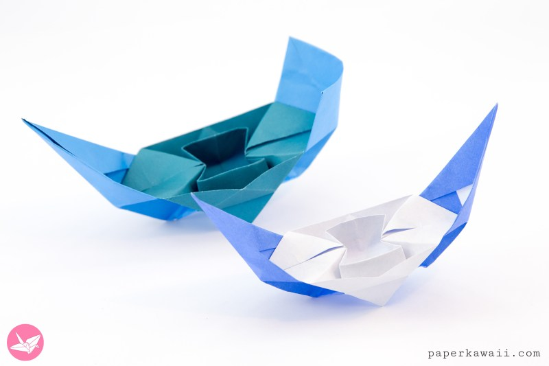 Origami Chinese Junk Boat - Traditional & Closed Versions via @paper_kawaii