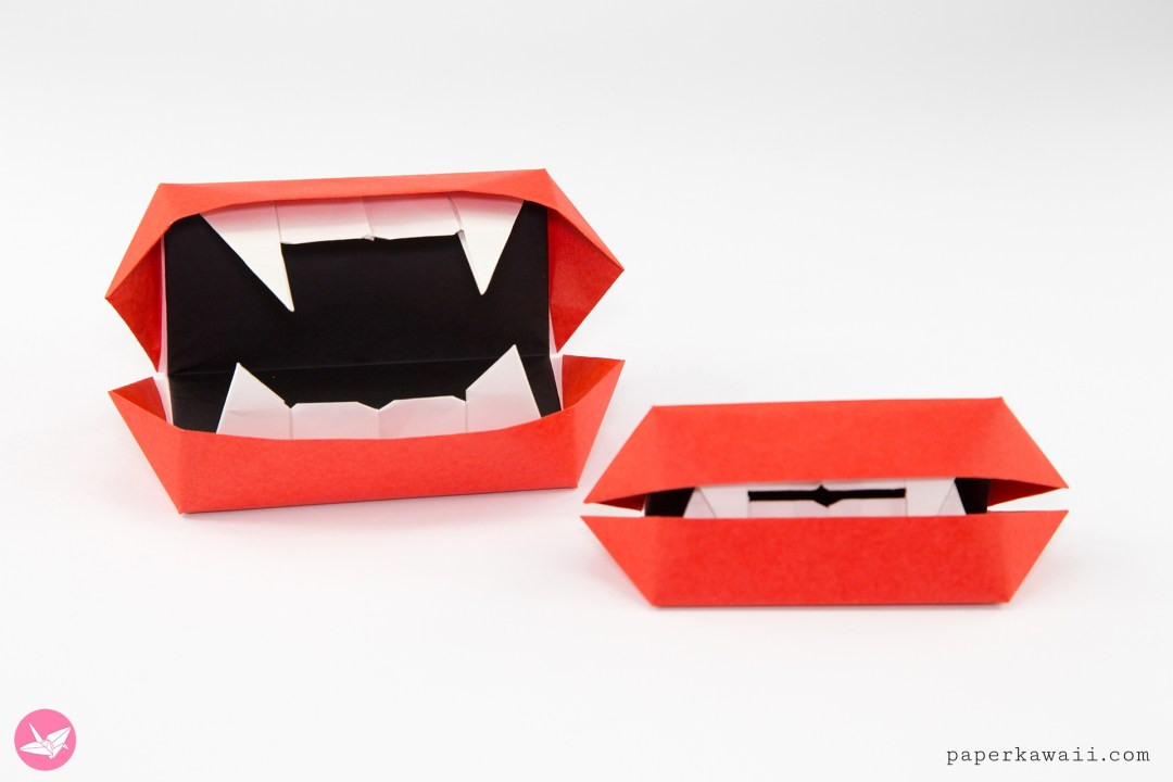 Origami Vampire Mouth Toy Tutorial via @paper_kawaii